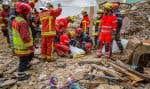 Les corps de cinq hommes et deux femmes avaient déjà été retrouvés morts depuis l'effondrement spontané lundi de ces deux immeubles vétustes.