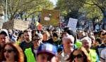 Des manifestations ont eu lieu un peu partout en France samedi 23 mars. Ici, des Gilets Jaunes protestent àSaint-Herblain, près de Nantes.