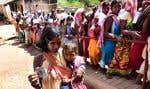 Un bureau de vote dans l'État de l'Odisha. On s'attend à ce que, pour la première fois, les femmes votent en plus grand nombre que les hommes.