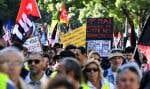 À l'appel des syndicats et des «gilets jaunes», des dizaines de milliers de personnes devaient défiler dans la capitale et quelque 200 villes de France.