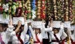 Célébrée tous les quatre ans, la «fête des plateaux» est une des traditions les plus anciennes du pays.