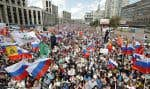 Plus de 20 000 personnes se sont rassemblées samedi dans le centre de Moscou pour réclamer des élections locales libres et équitables.