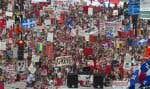 Manifestation dans le cadre du Printemps érable, en 2012