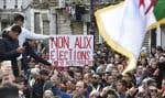 Des millions d'Algériens s'opposent fermement à la présidentielle que le pouvoir organise le 12décembre pour élire un successeur à Abdelaziz Bouteflika. Sur la photo, un rassemblement, mardi, à Alger.
