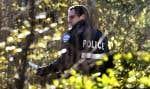 Les policiers du SPVM fouillaient encore hier matin le boisé situé derrière la maison de Nicolo Rizzuto pour trouver des indices.
