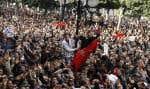 Manifestion à Tunis le 14 janvier dernier réclamant le départ du président Zine al-Abidine Ben Ali