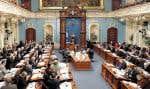 Les travaux à l'Assemblée nationale, à Québec.