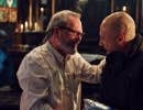 Terry Gilliam et Christoph Waltz sur le plateau du film <em>The Zero Theorem</em>