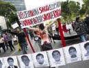 Une manifestation mercredi, à Mexico, pour exiger que justice soit faite .