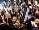 Une manifestation rassemblant des militants du parti grec d'extrême droite Aube dorée, à Athènes, en janvier dernier