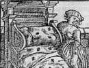 La traque à la punaise, version XVe siècle. Illustration tirée du traité de botanique médicale du médecin et herboriste allemand Johannes de Cuba, publié en 1491 sous le titre «Hortus sanitatis».