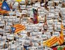 La manifestation était prévue à l'origine pour réclamer la libération de deux leaders séparatistes, Jordi Cuixart et Jordi Sánchez, emprisonnés pour sédition.