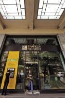 Une succursale de la banque Piraeus, &agrave; Ath&egrave;nes.<br />